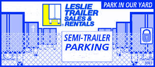 Semi-trailer Trailer Parking Yard, Park in our Yard Ad